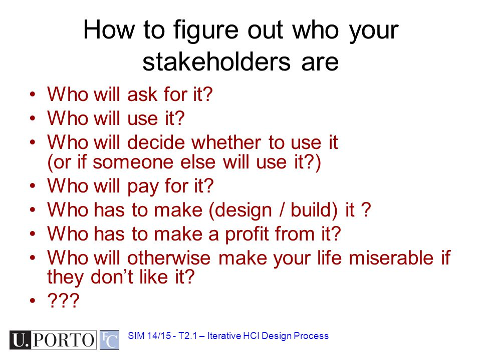 How to figure out who your stakeholders are