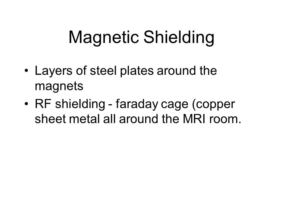 Magnetic Shielding Layers of steel plates around the magnets