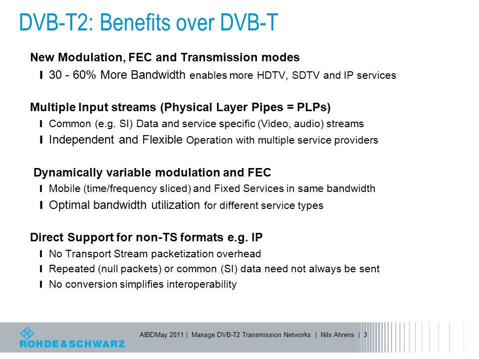 DVB-T2: Benefits over DVB-T