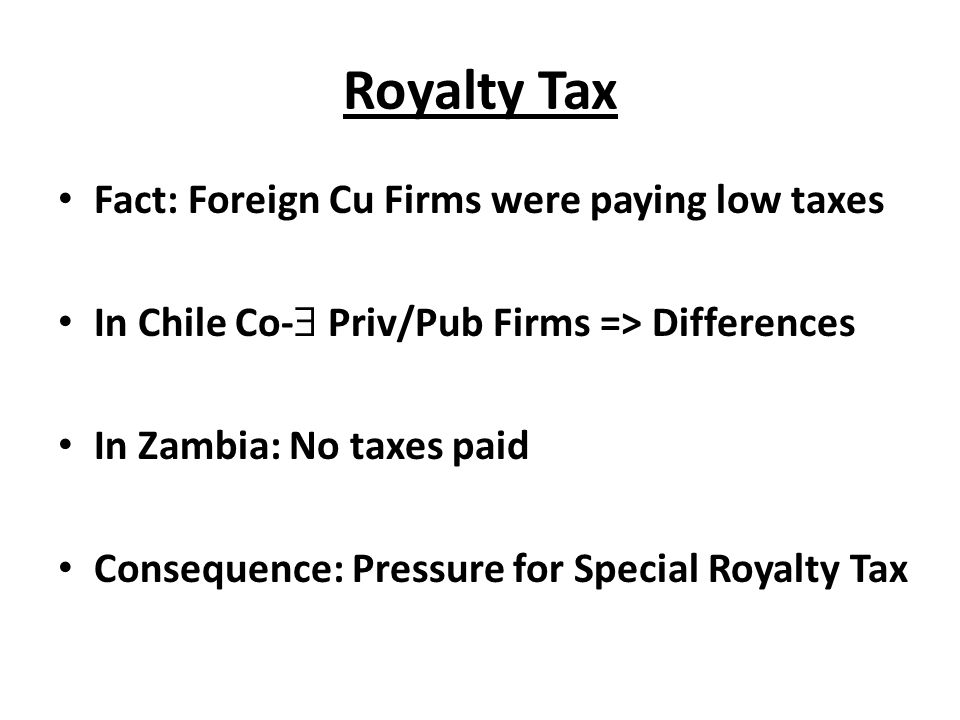Royalty Tax Fact: Foreign Cu Firms were paying low taxes
