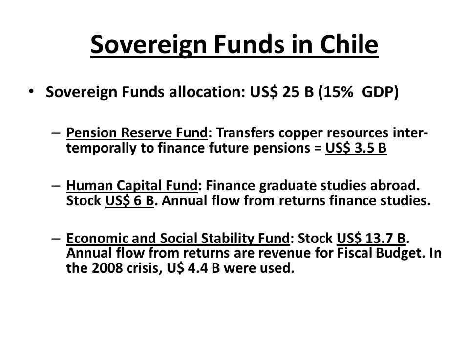 Sovereign Funds in Chile