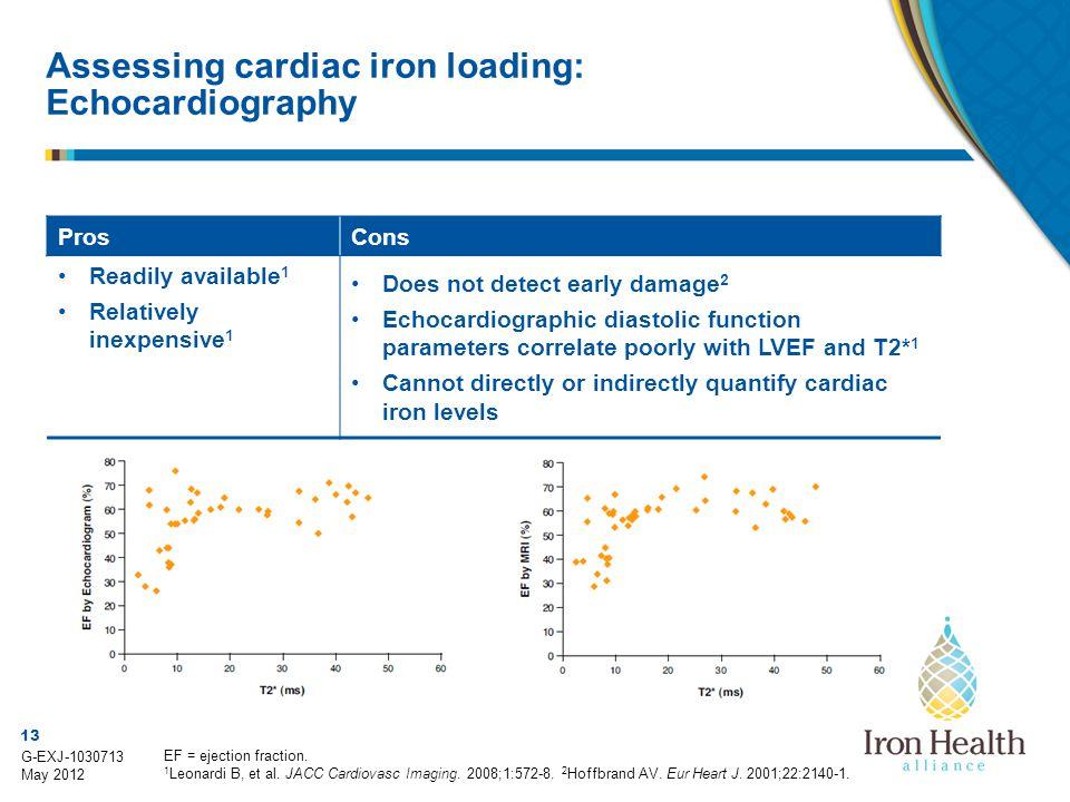 Assessing cardiac iron loading: Echocardiography