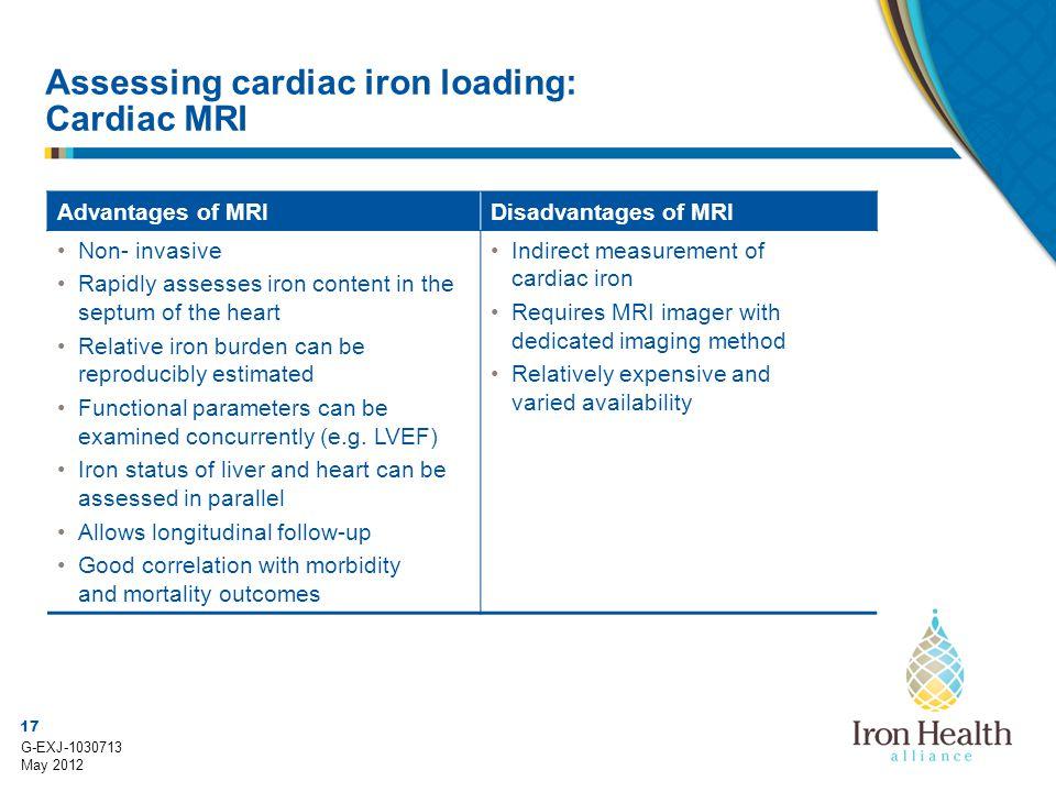 Assessing cardiac iron loading: Cardiac MRI
