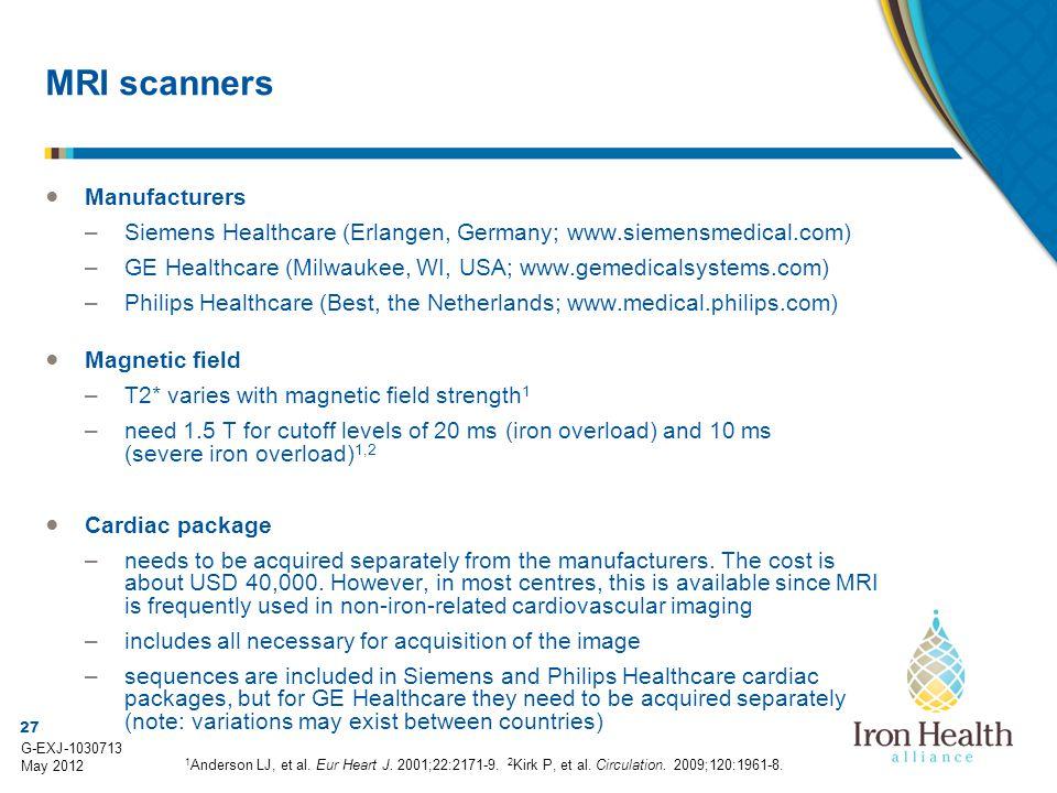 MRI scanners Manufacturers