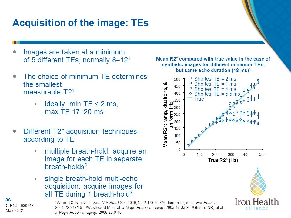 Acquisition of the image: TEs
