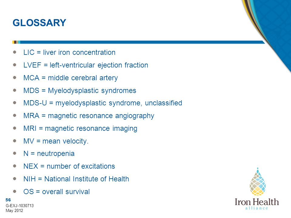 GLOSSARY LIC = liver iron concentration