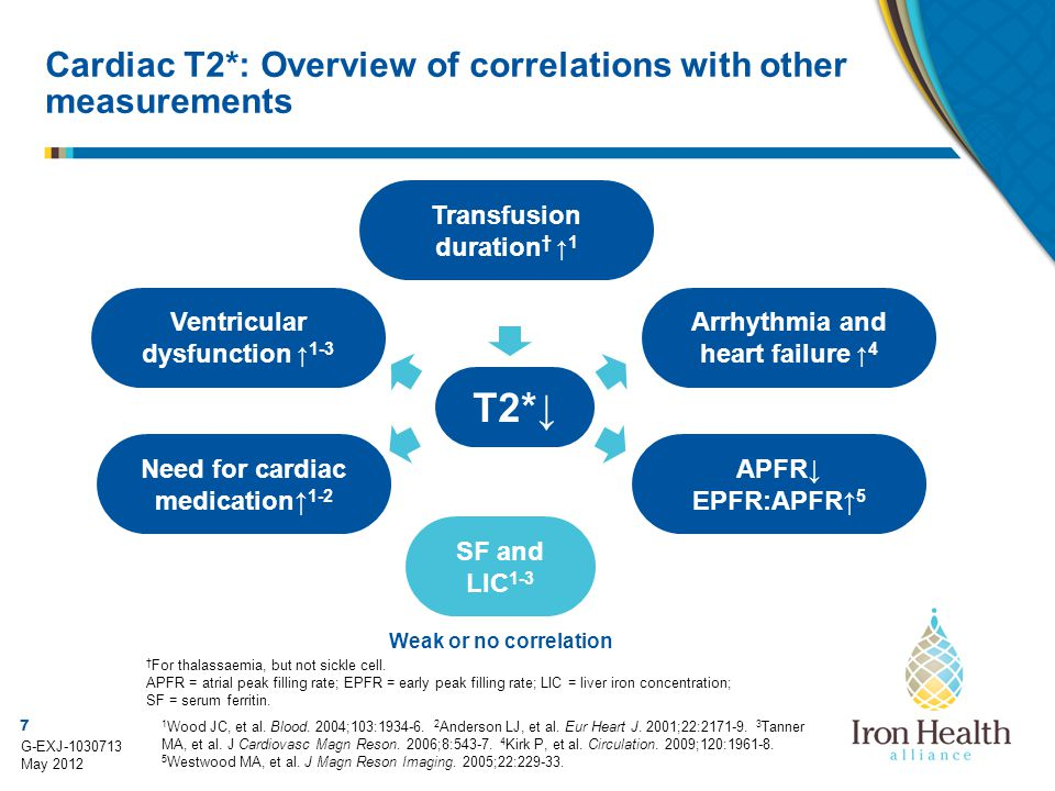 Cardiac T2*: Overview of correlations with other measurements