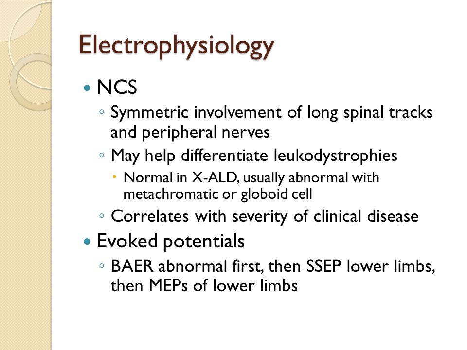 Electrophysiology NCS Evoked potentials