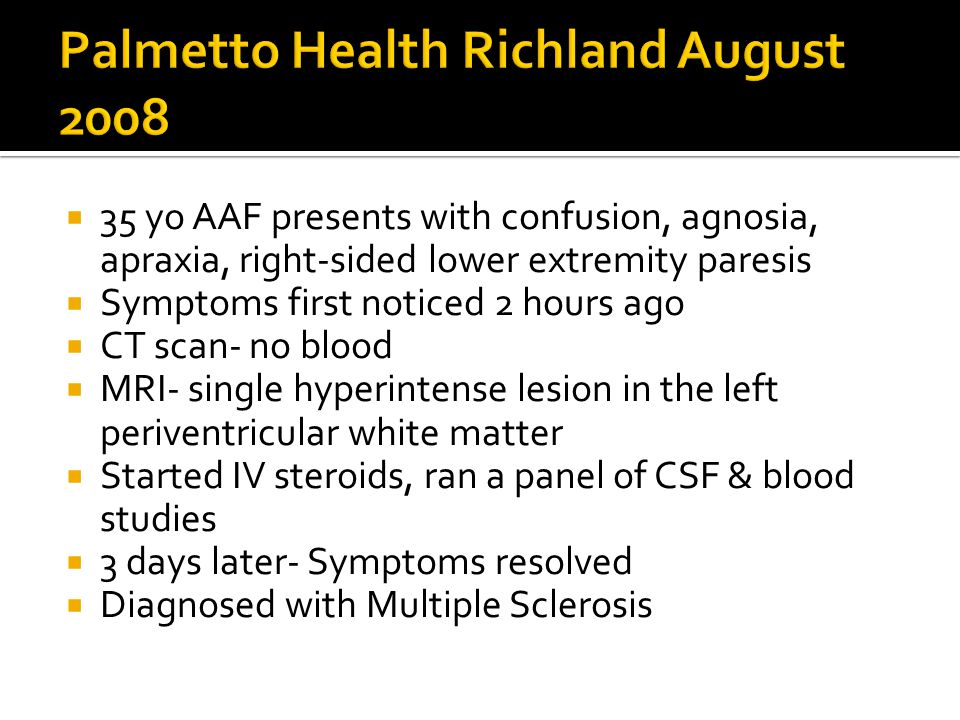 Palmetto Health Richland August 2008