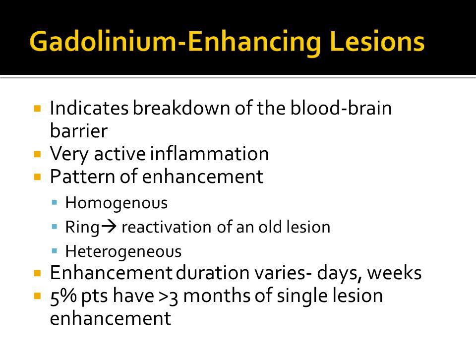 Gadolinium-Enhancing Lesions