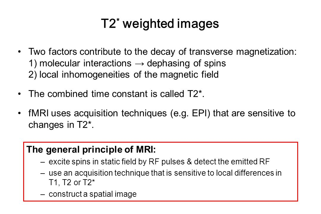 T2* weighted images