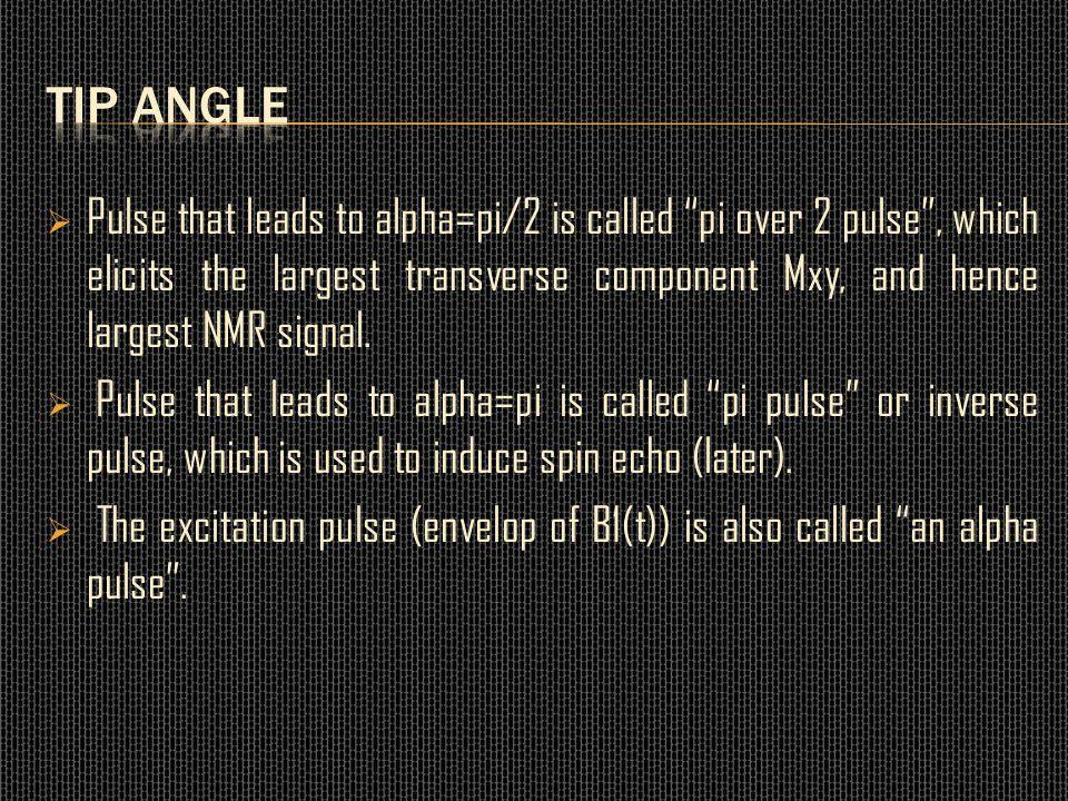 Tip angle