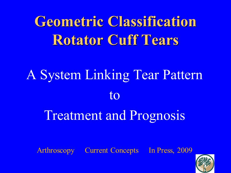 Geometric Classification Rotator Cuff Tears