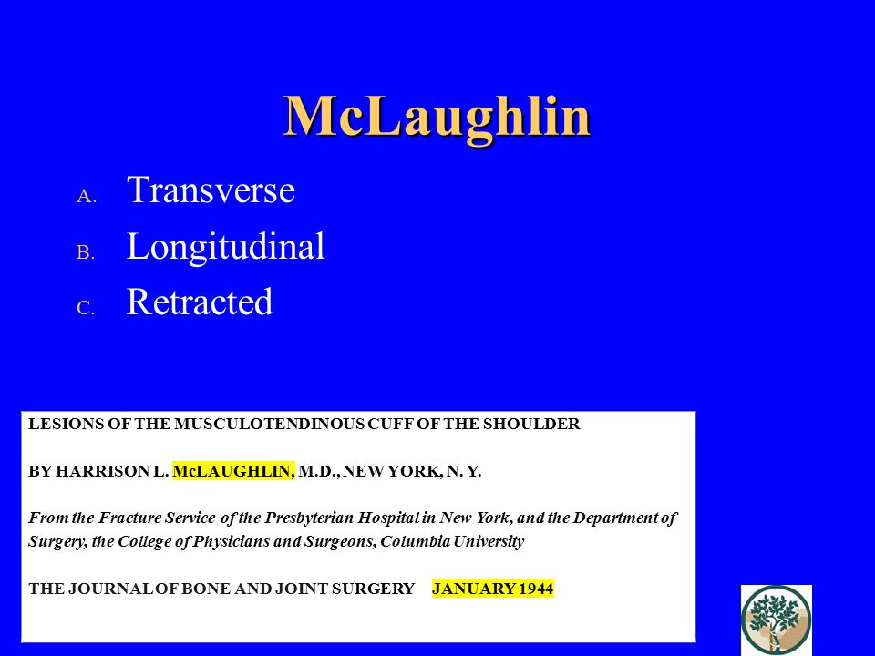 McLaughlin Transverse Longitudinal Retracted