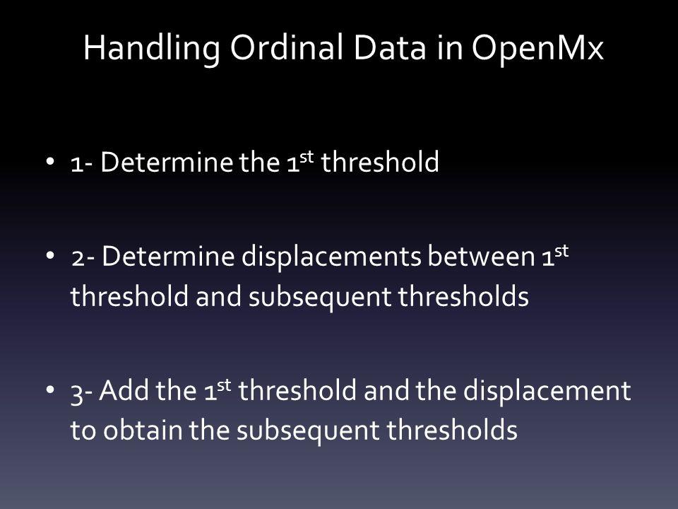 Handling Ordinal Data in OpenMx