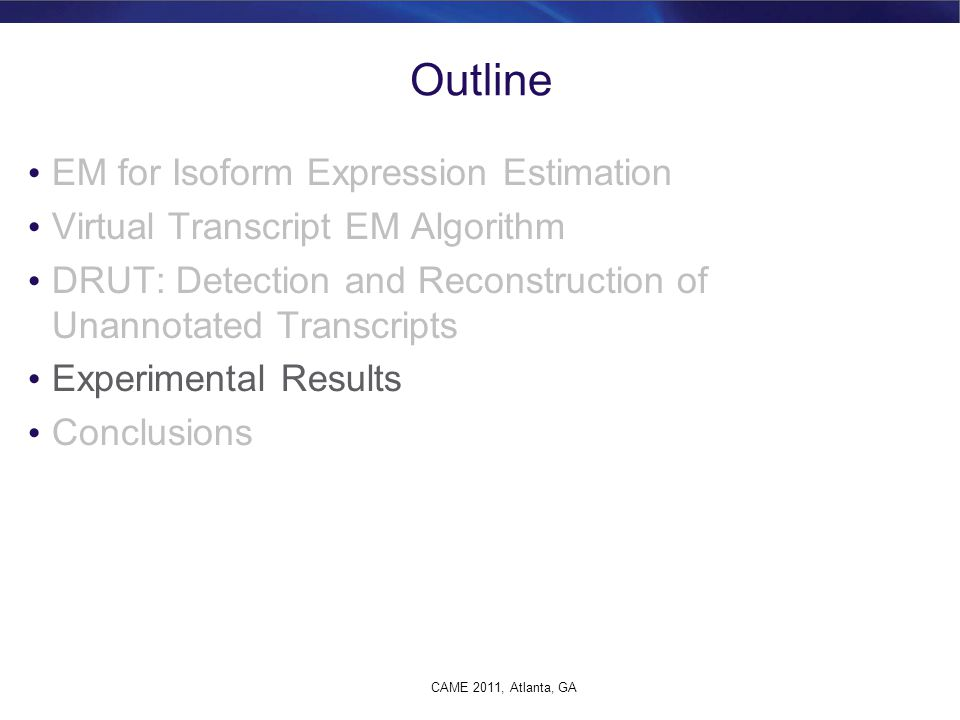 Outline EM for Isoform Expression Estimation