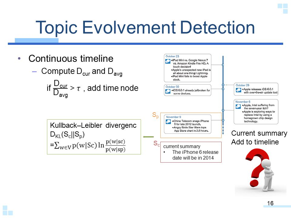 Topic Evolvement Detection