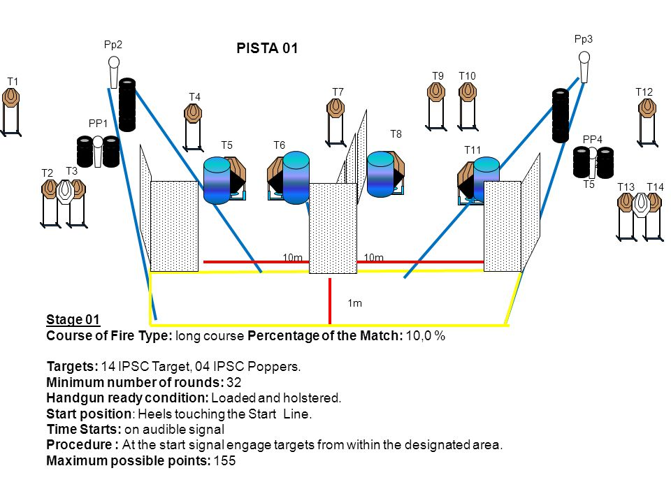 Pp3 Pp2. PISTA 01. T9. T10. T1. T7. T12. T4. PP1. T8. PP4. T5. T6. T11. 20m. T2. T3.