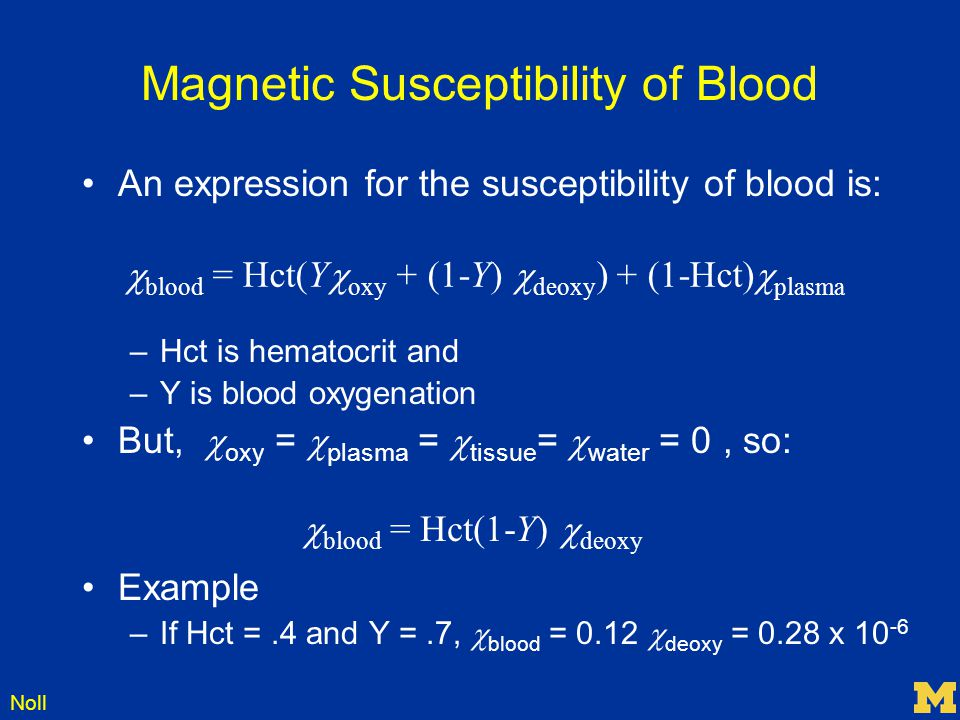Magnetic Susceptibility of Blood