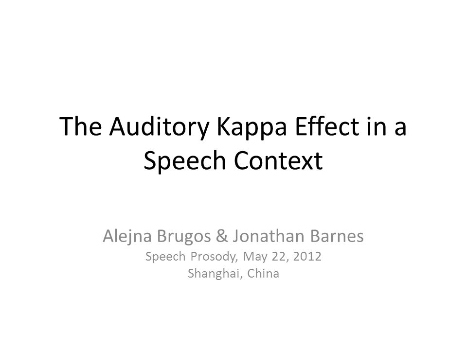 The Auditory Kappa Effect in a Speech Context
