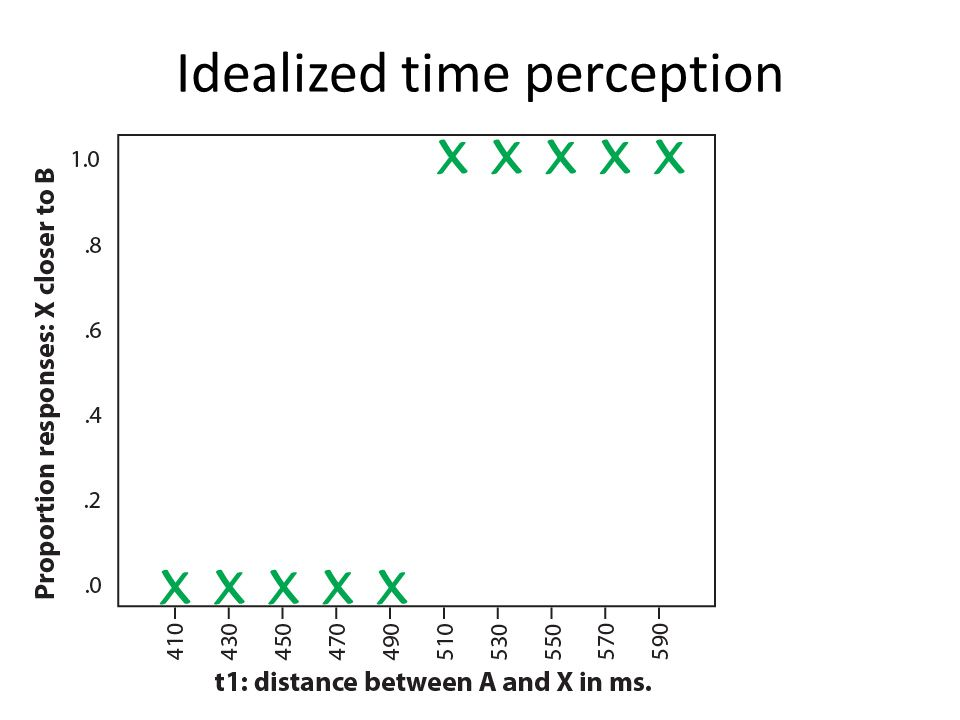Idealized time perception