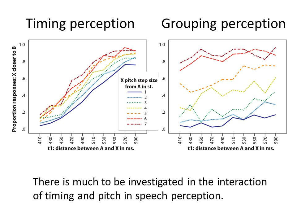 Timing perception Grouping perception