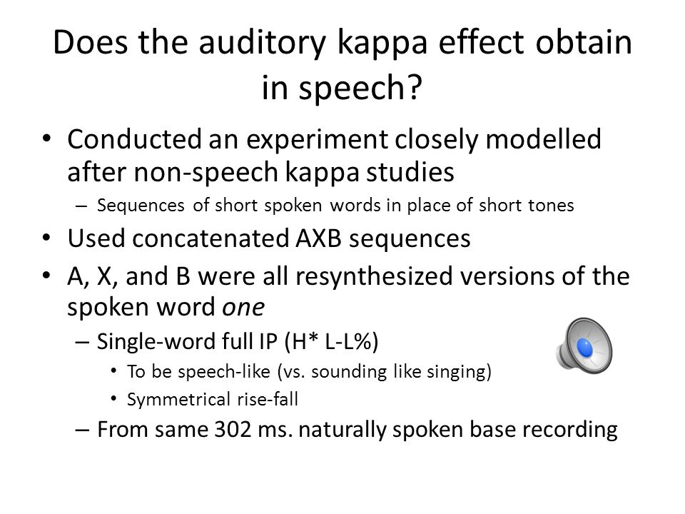 Does the auditory kappa effect obtain in speech