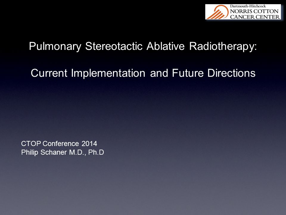 Pulmonary Stereotactic Ablative Radiotherapy:
