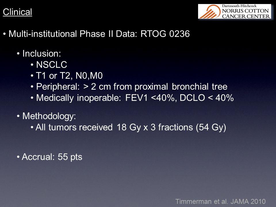 Multi-institutional Phase II Data: RTOG 0236