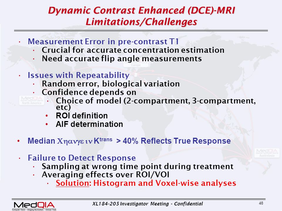 Dynamic Contrast Enhanced (DCE)-MRI Limitations/Challenges