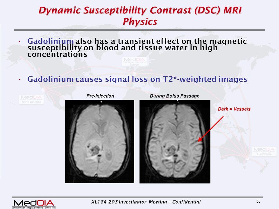 Dynamic Susceptibility Contrast (DSC) MRI Physics