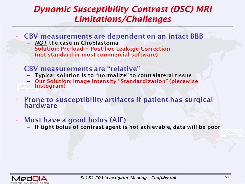 Dynamic Susceptibility Contrast (DSC) MRI Limitations/Challenges