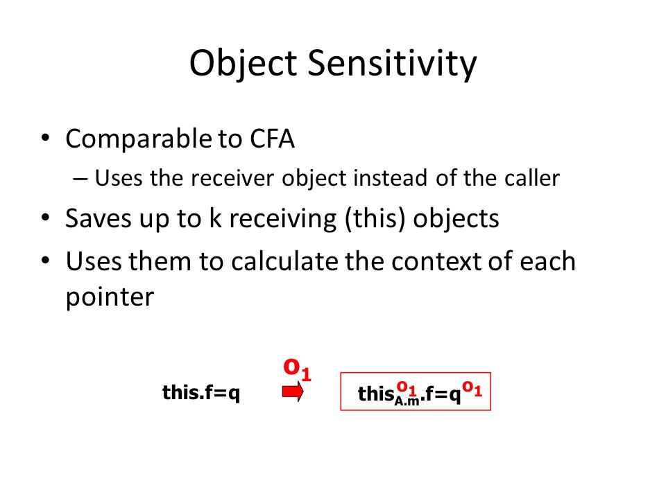 Object Sensitivity Comparable to CFA
