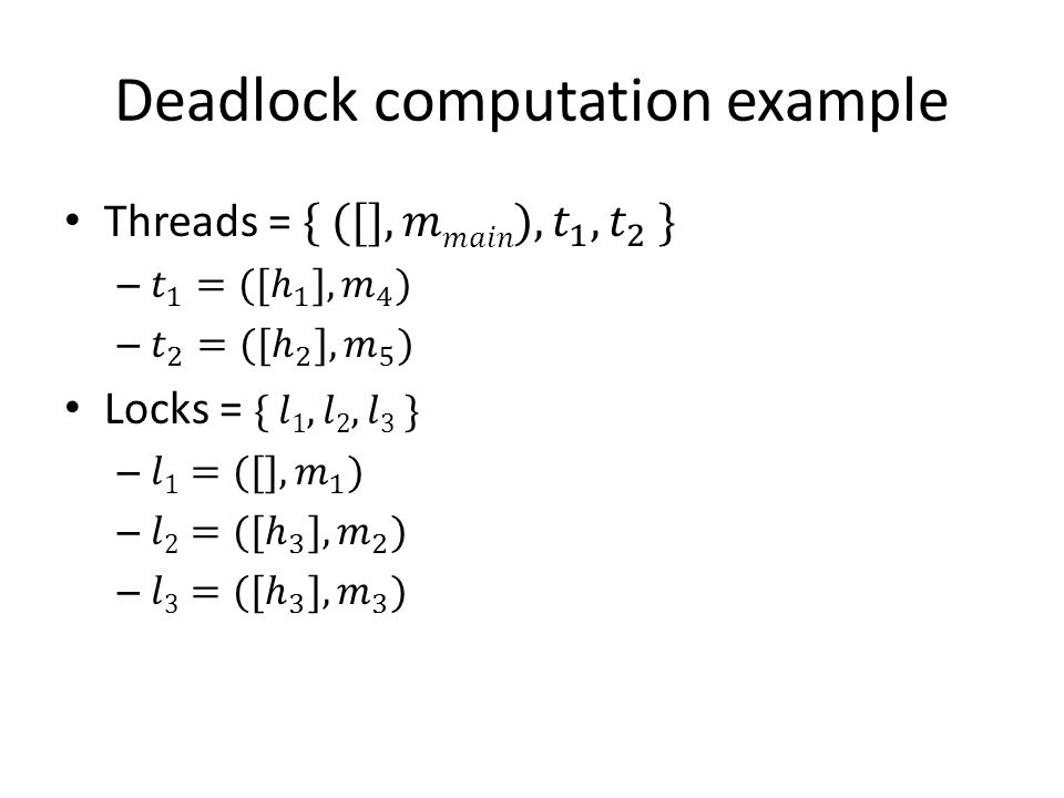 Deadlock computation example