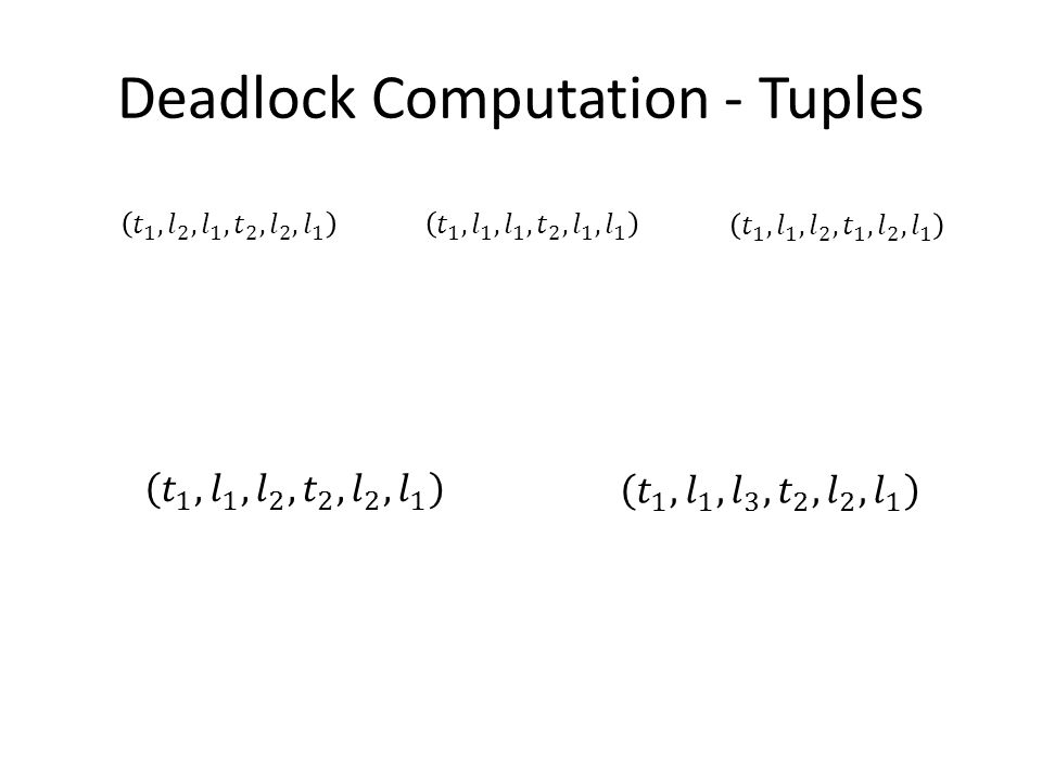 Deadlock Computation - Tuples