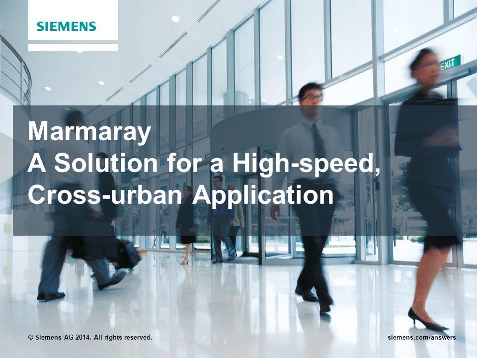 Marmaray A Solution for a High-speed, Cross-urban Application
