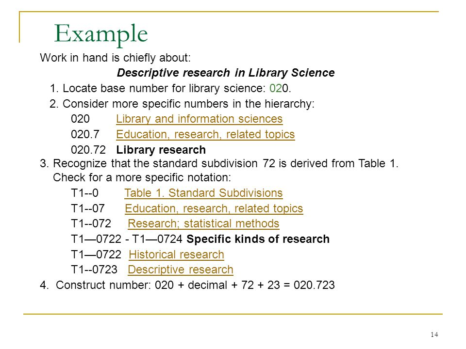 Descriptive research in Library Science