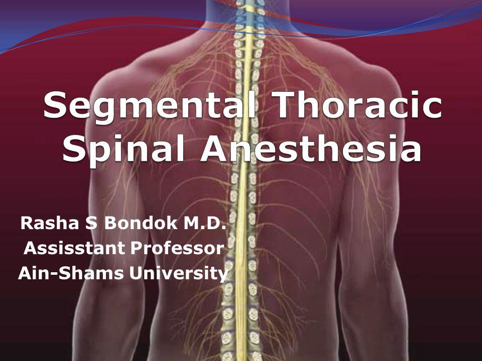 Segmental Thoracic Spinal Anesthesia