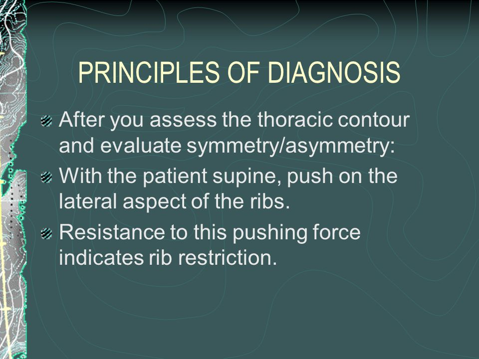 PRINCIPLES OF DIAGNOSIS