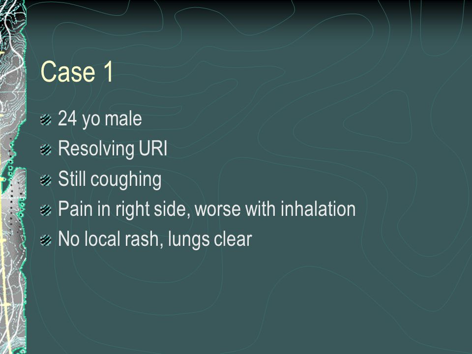 Case 1 24 yo male Resolving URI Still coughing