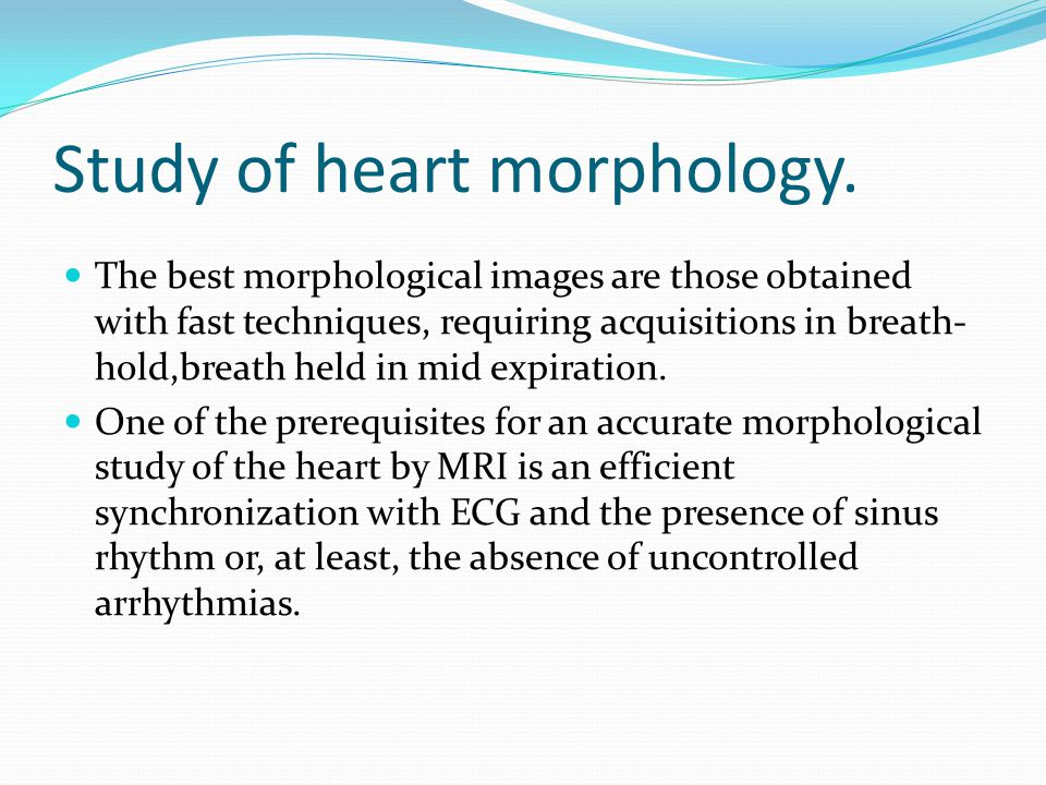 Study of heart morphology.