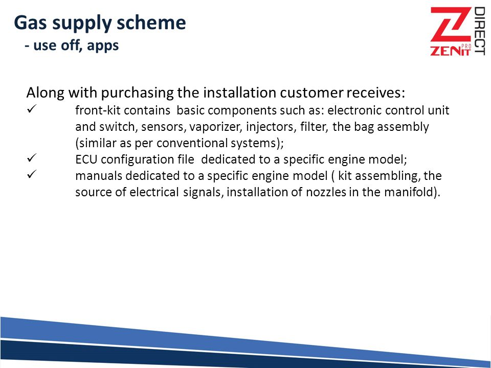 Gas supply scheme - use off, apps