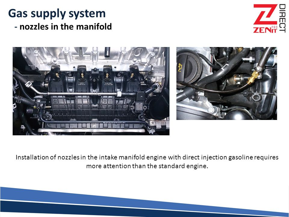 Gas supply system - nozzles in the manifold