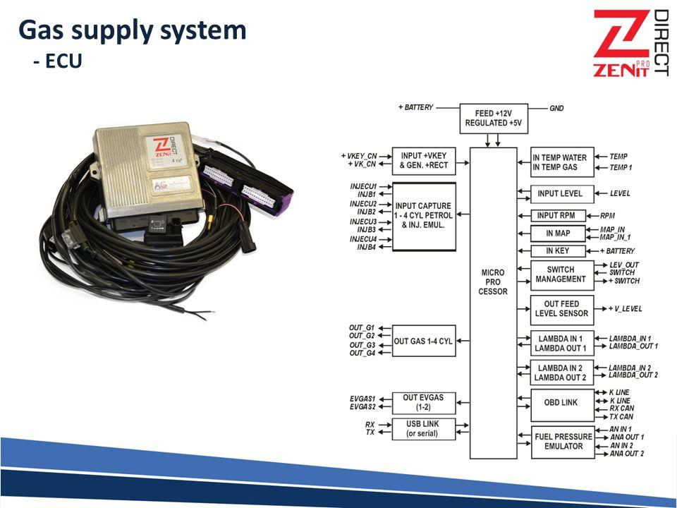 Gas supply system - ECU