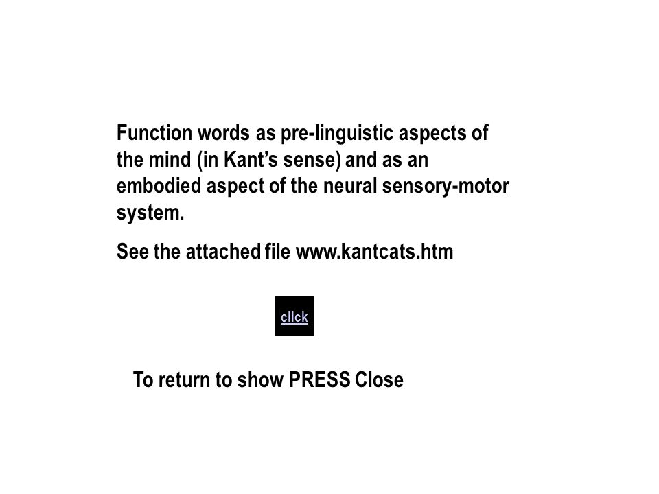 See the attached file www.kantcats.htm