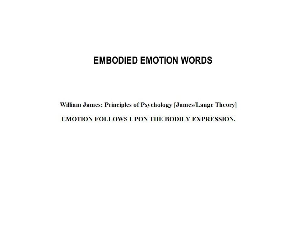 EMBODIED EMOTION WORDS