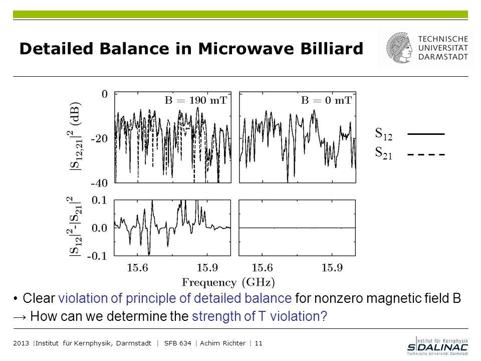 Detailed Balance in Microwave Billiard