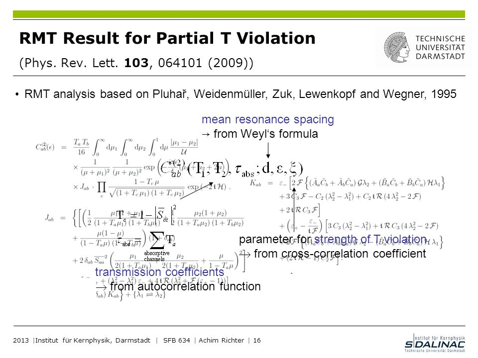 RMT Result for Partial T Violation (Phys. Rev. Lett