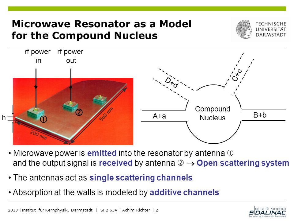 Microwave Resonator as a Model for the Compound Nucleus