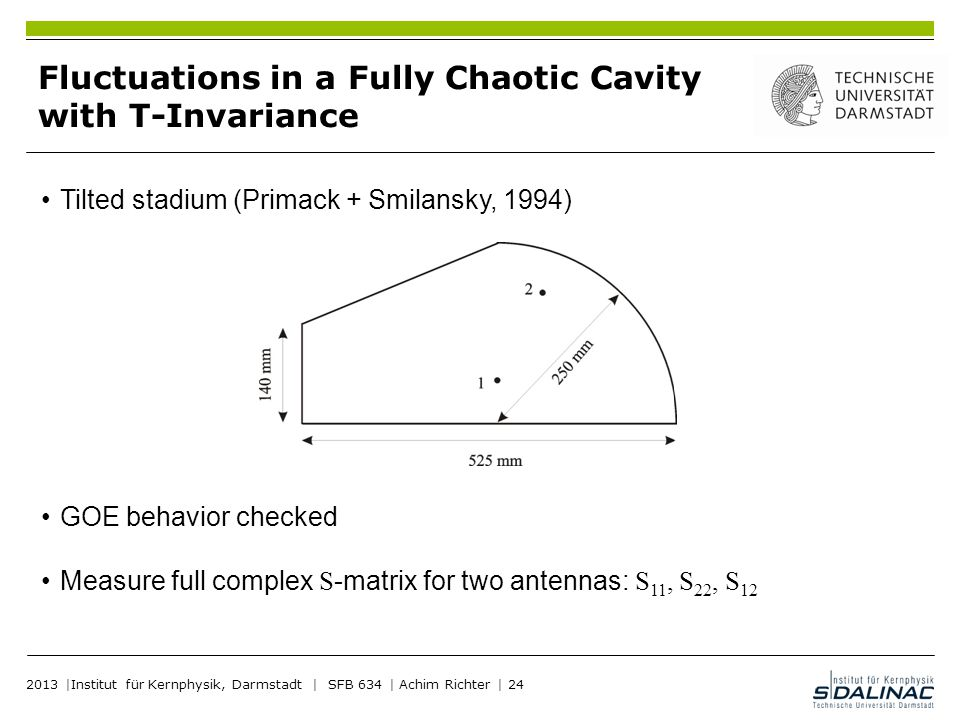Fluctuations in a Fully Chaotic Cavity with T-Invariance